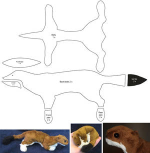 Stoat - plushie patterns