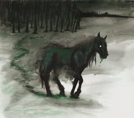 Green Flu horse
