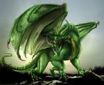 Green dragon by IsisMasshiro