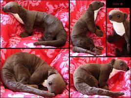 River otter - plushie by IsisMasshiro