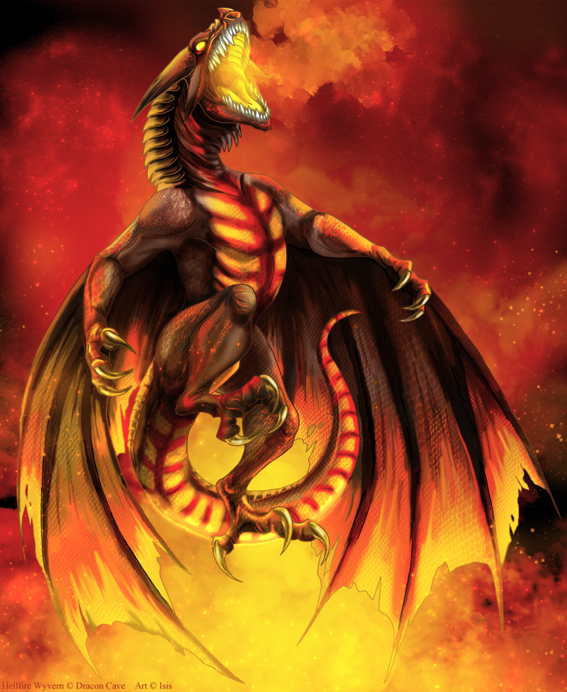 Hellfire Wyvern by IsisMasshiro