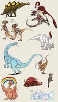 Copic flood 2 - dinosaurs
