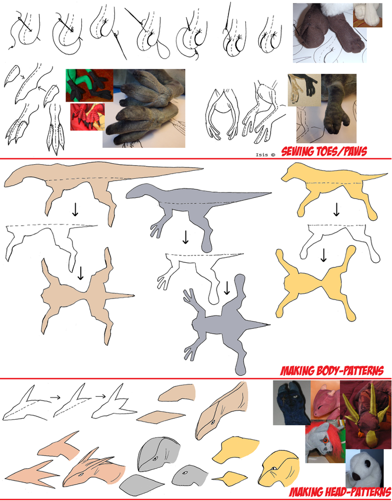 Making patterns and sewing toes by IsisMasshiro on DeviantArt