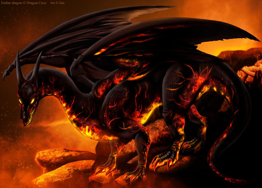 Ember dragon by IsisMasshiro
