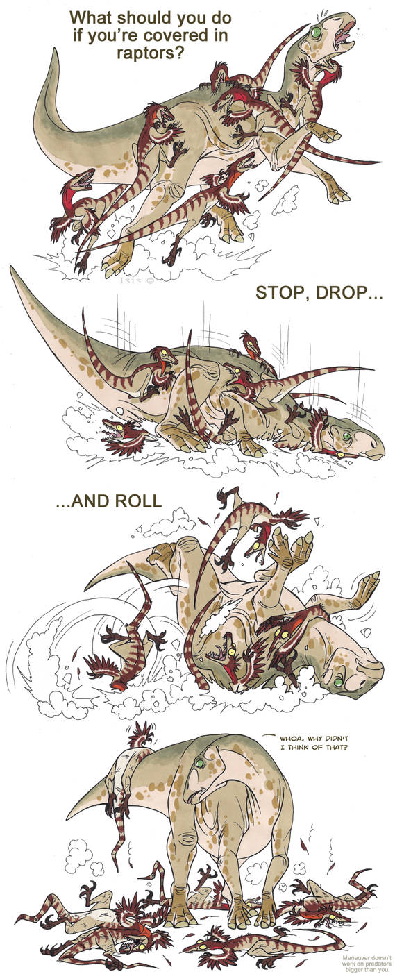 Dinosaur safety by IsisMasshiro