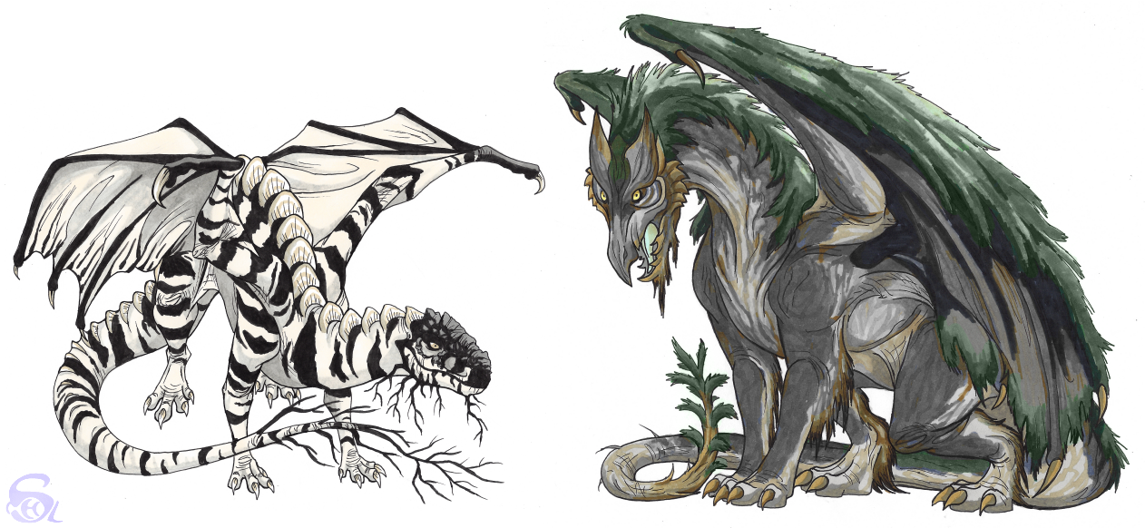 Tree dragons by IsisMasshiro