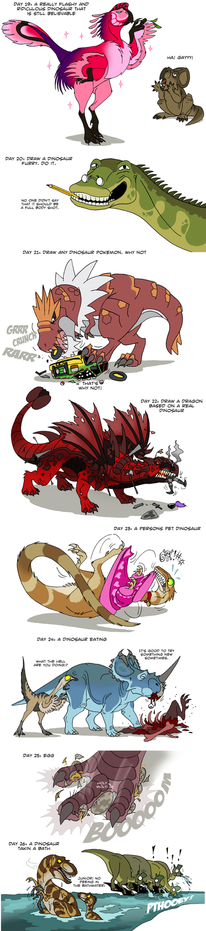 Dinosaur challenge 4 by IsisMasshiro