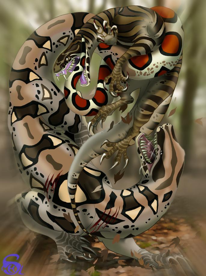 Strangler and biter by IsisMasshiro
