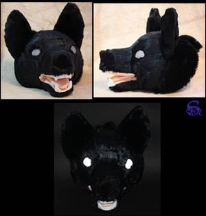 Black dog's head