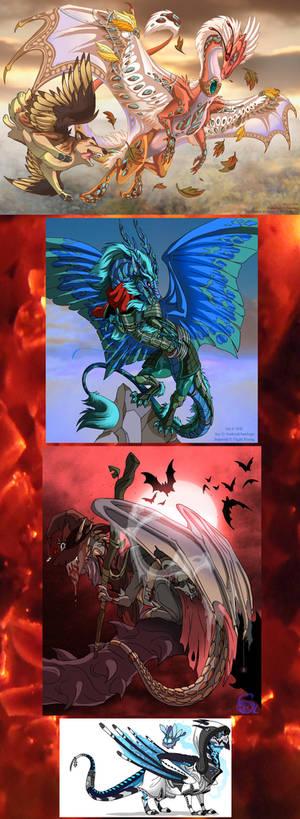 Flight Rising - Bunch of dragons
