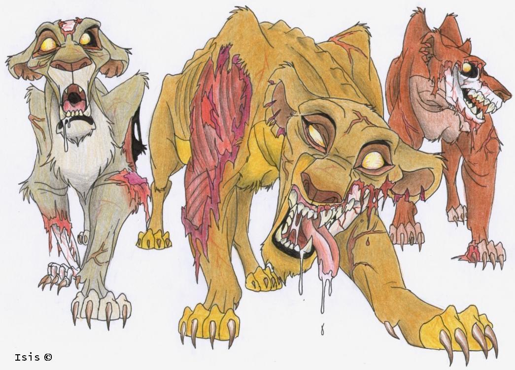 Zombie Lionesses By Isismasshiro On Deviantart