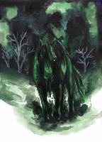 Green Flu horse revisit by IsisMasshiro