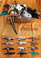Bunch of plushies II FOR SALE by IsisMasshiro