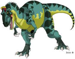 Cryolophosaurus by IsisMasshiro