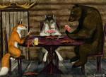 Fox, wolf and bear