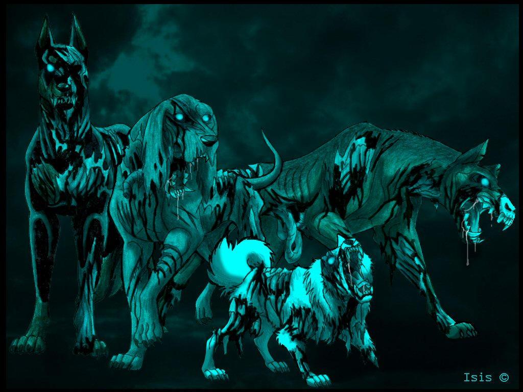 Zombiedogs by IsisMasshiro
