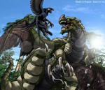 Battle in swamp