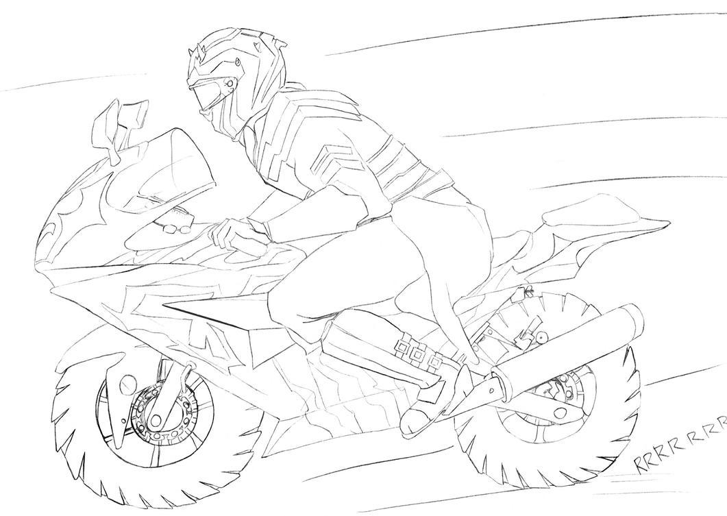 Savage Opress on a motorcycle by AjaxTelamoneis