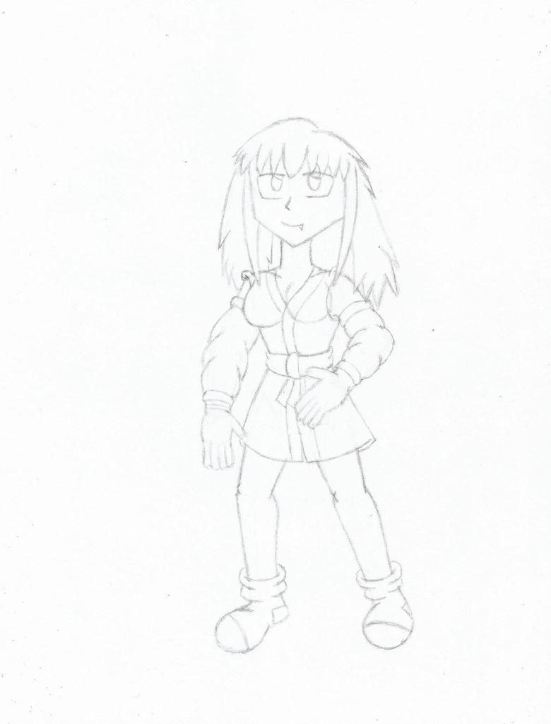 malana full body sketch by silva592