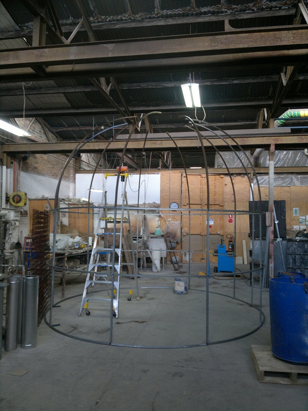 giant birdcage sculpture frame up by ibendit on DeviantArt