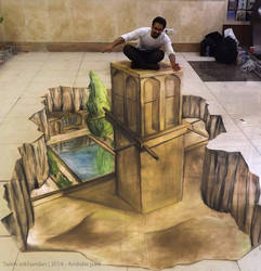 Andishe park - 3D chalk Art  (1) by salso-art