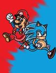 Classic Mario and Sonic