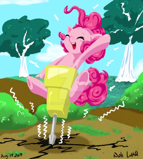 Pinkie Pie JACKHAMMA! by Beefcrow