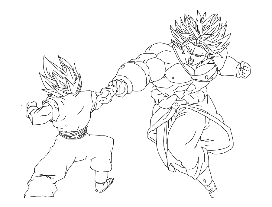 Broly VS Vegetto by Sasuderuto