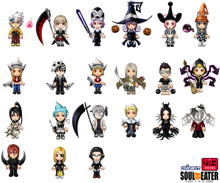 Soul Eater characters by cielociel on DeviantArt