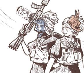 Sketch yokai: Onibi