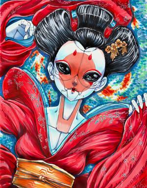 Geisha.GhostnShell.final by Artrest-X