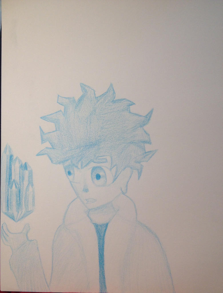 Blue (one color challange) by finelinerkid