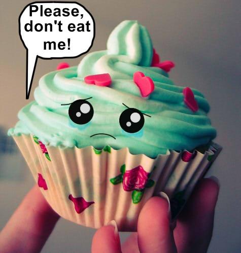 Sad cupcake...
