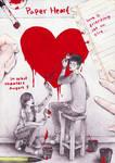 paper heart in paper :D