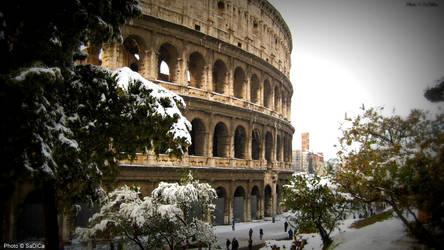 Colosseo Innevato