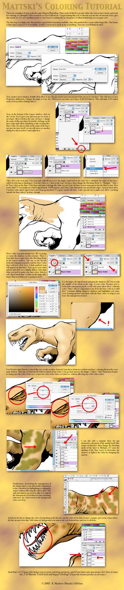 Digital painting lineart on photoshop tutorials deviantart mattski 28 5 coloring tutorial by mattski baditri Images