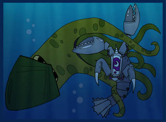 Lobstertron vs Kraken by whysoseriouss