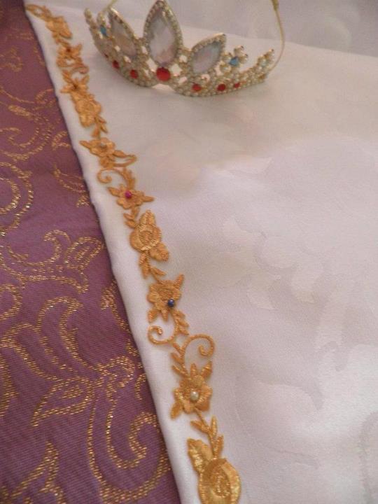 hell yeah tangled rapunzel wedding dress wip
