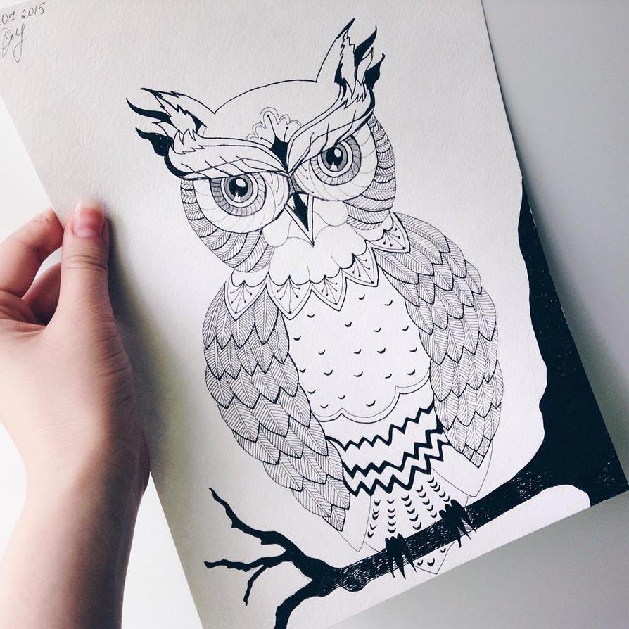 Cute little owl by SayannaDecler