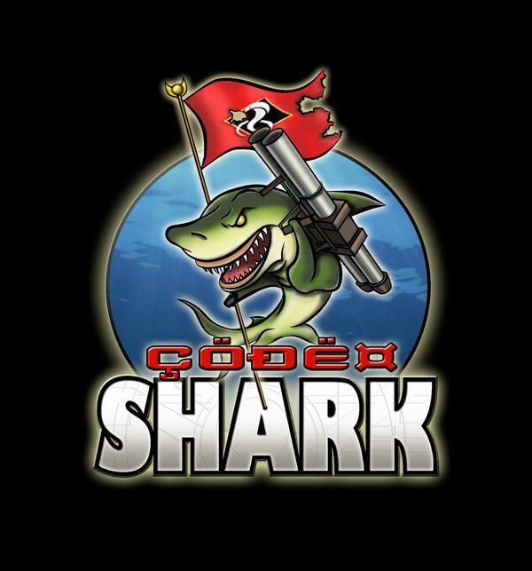 code shark logo by askewstudios