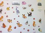Pokemon on my fridge