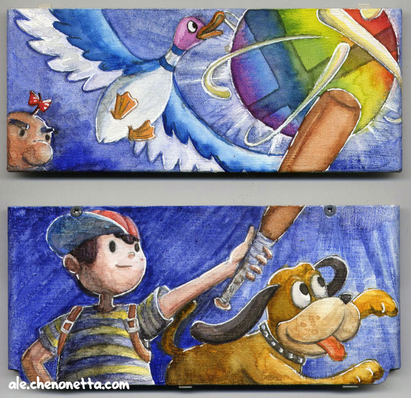 Watercolour 3DS Cover Plates by Alecat