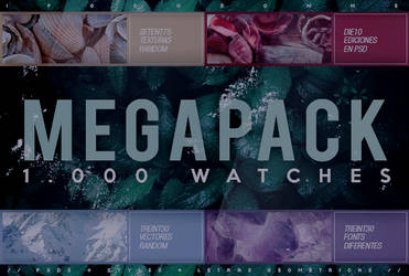 // MEGAPACK // 1,000 WATCHES // by swxt-moon
