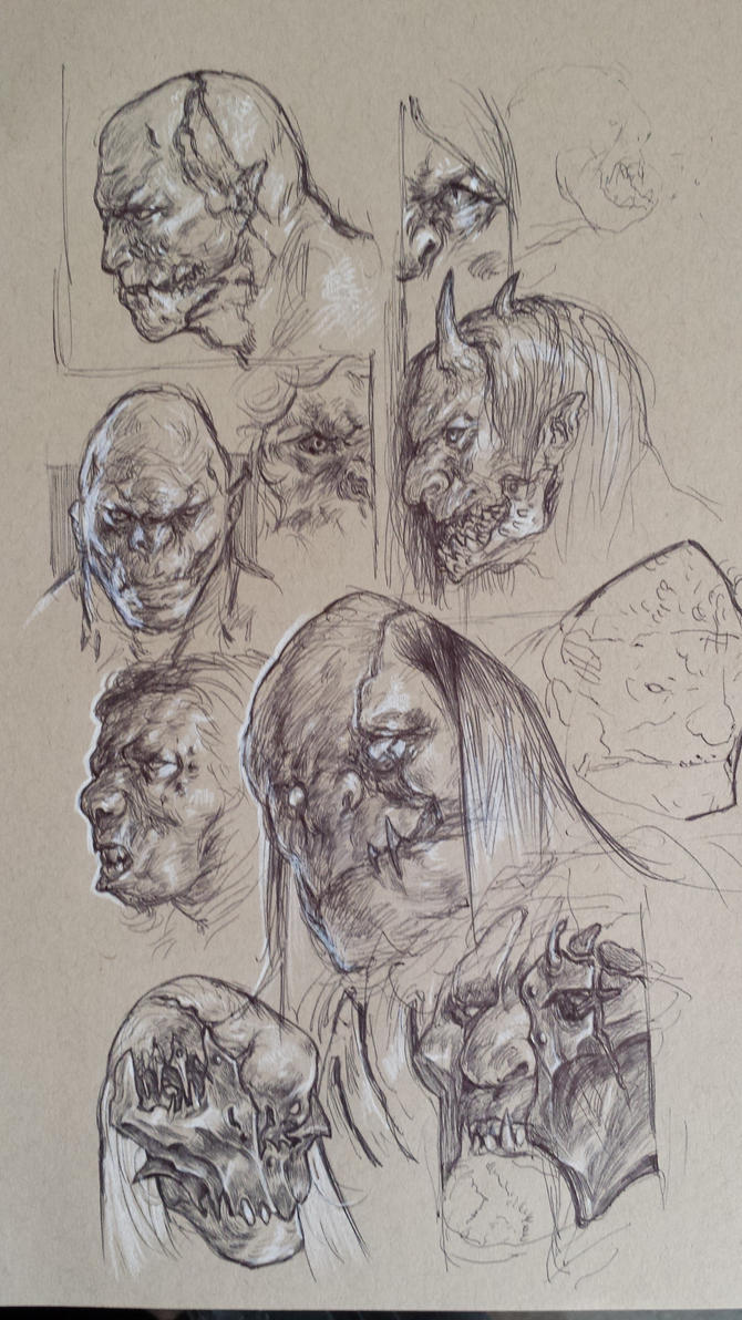 orcish sketches by juyoungku