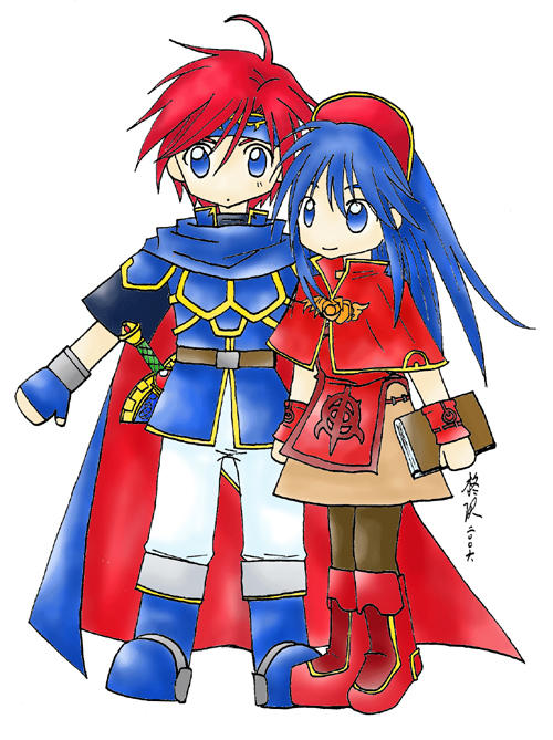 Fire Emblem: Roy and Lilina by gumokohiiragizawa
