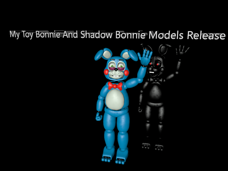 my toy bonnie and shadow bonnie models release by cinema4dmodeler2