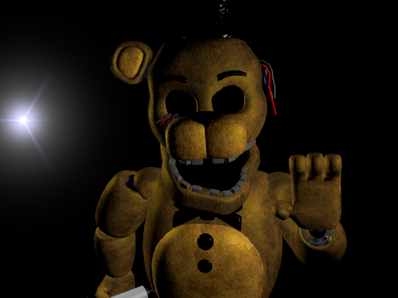 Fnaf 2 Golden Freddy by Cinema4dModeler2 on DeviantArt