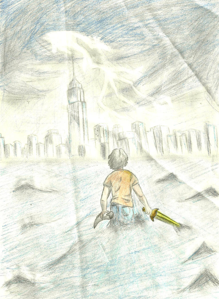 Book Thief Cover Art : The lightning thief cover by danittag on deviantart