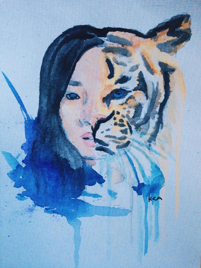 Self Portrait x Tiger   by carleezle