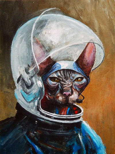 First cat on the Moon by bulbar